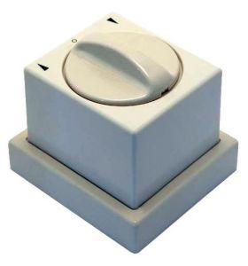 Opbouwschakelaar met bodemplaat (Creme wite)